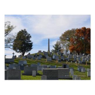 Arlington Fall, Obelisk on top of the hill Postcard