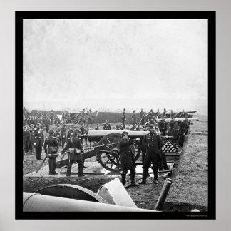 Arlington Gun Crew Drilling 1863 Poster