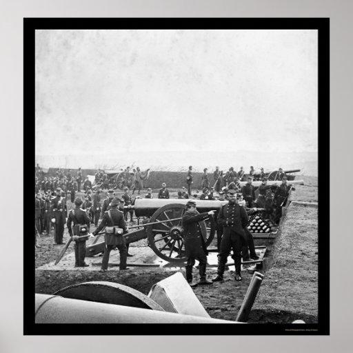Arlington Gun Crew Drilling 1863 Posters