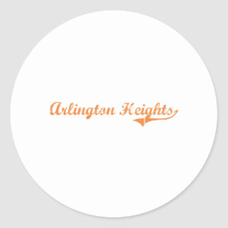 Arlington Heights Illinois Classic Design Round Stickers