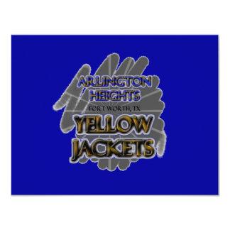 "Arlington Heights Yellow Jackets - Fort Worth, TX 4.25"" X 5.5"" Invitation Card"