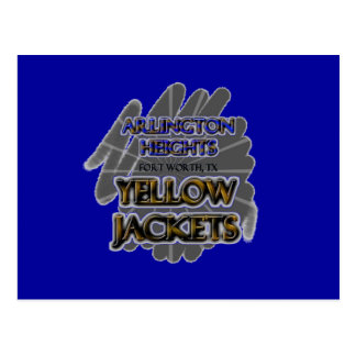 Arlington Heights Yellow Jackets - Fort Worth, TX Postcard