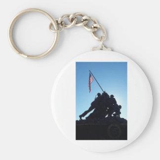 Arlington Iwo Jima Basic Round Button Keychain