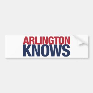 Arlington Knows Bumper Sticker