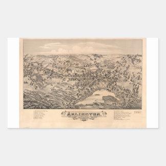 Arlington Massachusetts (1884) Pegatina Rectangular