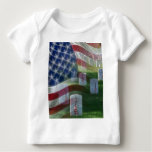 Arlington National Cemetery, American Flag Baby T-Shirt