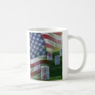 Arlington National Cemetery, American Flag Classic White Coffee Mug