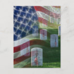 Arlington National Cemetery, American Flag Postcard