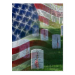 Arlington National Cemetery, American Flag Postcard