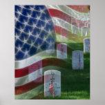 Arlington National Cemetery, American Flag Poster