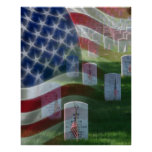 Arlington National Cemetery, American Flag Poster