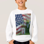 Arlington National Cemetery, American Flag Sweatshirt