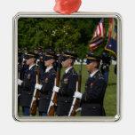 Arlington National Cemetery, Arlington, Square Metal Christmas Ornament