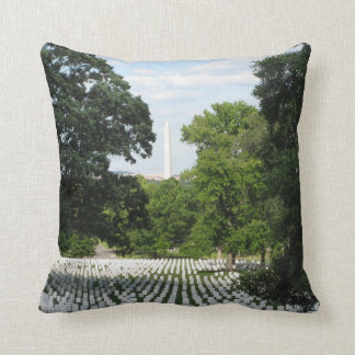 Arlington National Cemetery Washington Monument Throw Pillow