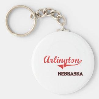 Arlington Nebraska City Classic Basic Round Button Keychain