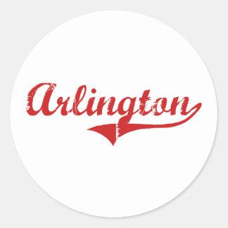 Arlington Nebraska Classic Design Classic Round Sticker