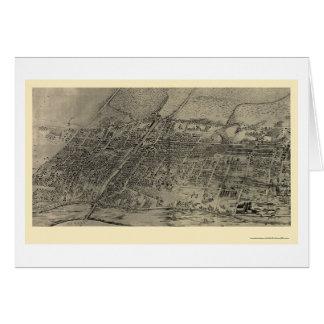 Arlington NJ Panoramic Map - 1907 Card