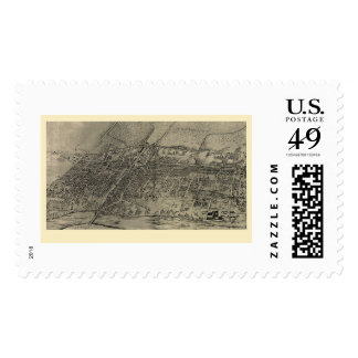 Arlington, NJ Panoramic Map - 1907 Stamp