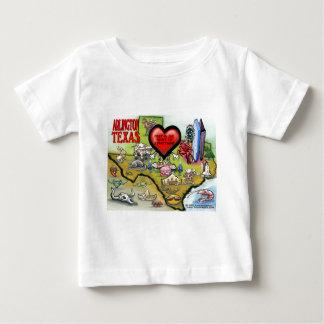 Arlington Texas Cartoon Map Baby T-Shirt