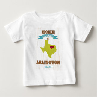 Arlington, Texas Map – Home Is Where The Heart Is Baby T-Shirt