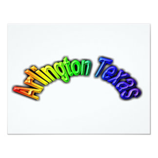 "Arlington Texas Popular Rainbow Design 4.25"" X 5.5"" Invitation Card"