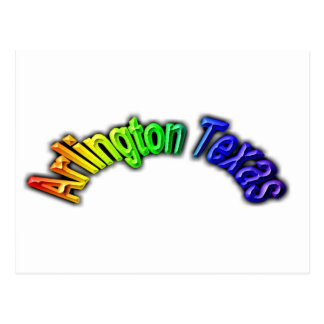 Arlington Texas Popular Rainbow Design Postcard