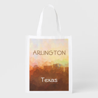 ARLINGTON, TEXAS SKYLINE - In the Clouds Grocery Bag
