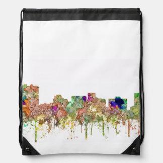 Arlington Texas Skyline SG-Faded Glory Drawstring Backpack