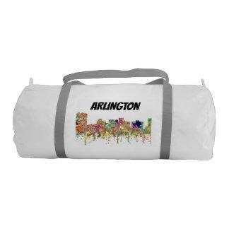 Arlington Texas Skyline SG-Faded Glory Duffle Bag