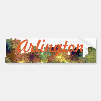 Arlington Texas Skyline SG-Safari Buff Bumper Sticker