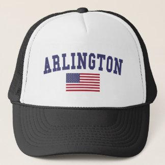 Arlington TX US Flag Trucker Hat