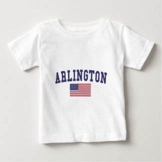 Arlington VA US Flag Baby T-Shirt