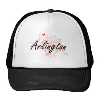 Arlington Virginia City Artistic design with butte Trucker Hat