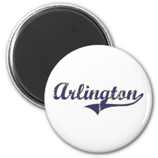 Arlington Washington Classic Design 2 Inch Round Magnet