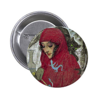 Arllaw, The Writing Witch. Pinback Button