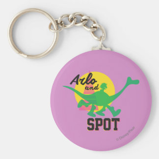 Arlo And Spot Sunset Keychain