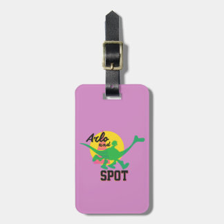 Arlo And Spot Sunset Luggage Tag