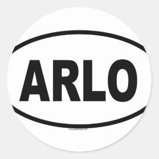 ARLO CLASSIC ROUND STICKER