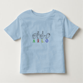 ARLO  FINGERSPELLED ASL SIGN NAME MALE TODDLER T-SHIRT