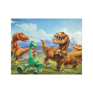 Arlo, Spot, and Ranchers In Field Canvas Print
