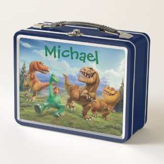 Arlo, Spot, and Ranchers In Field - Personalized Metal Lunch Box
