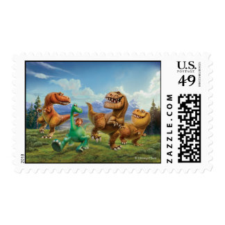 Arlo, Spot, and Ranchers In Field Postage