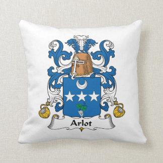 Arlot Family Crest Throw Pillow
