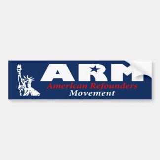 ARM: American Refounders Movement (blk or wht) Car Bumper Sticker