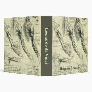 Arm and Shoulder Anatomy by Leonardo da Vinci 3 Ring Binder