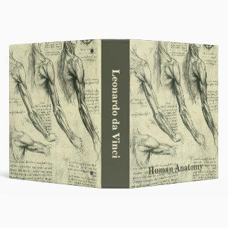 Arm and Shoulder Anatomy by Leonardo da Vinci 3 Ring Binder