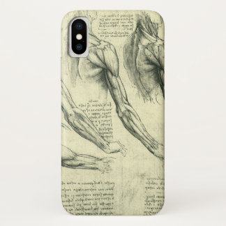 Arm and Shoulder Anatomy by Leonardo da Vinci iPhone X Case