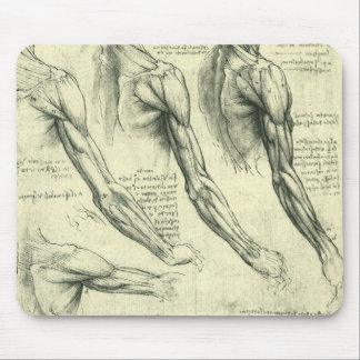 Arm and Shoulder Anatomy by Leonardo da Vinci Mouse Pad