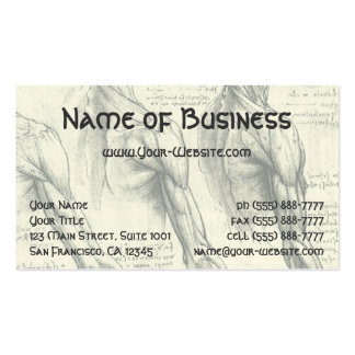 Arm and Shoulder Muscles Anatomy Leonardo da Vinci Double-Sided Standard Business Cards (Pack Of 100)