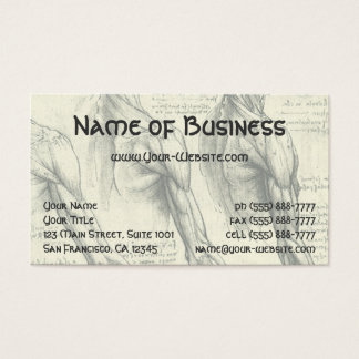 Arm and Shoulder Muscles Anatomy Leonardo da Vinci Business Card